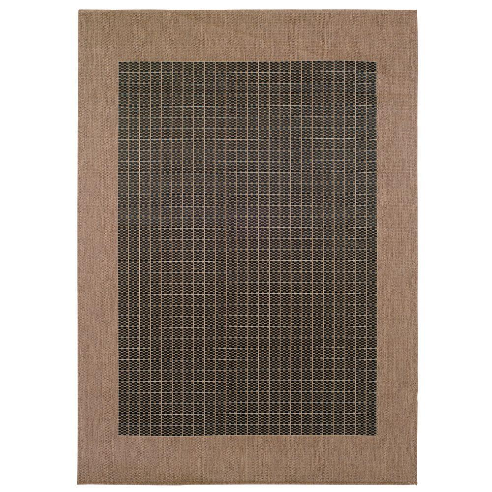 Home Decorators Collection Checkered Field Black 7 ft. 6 in. x 10 ft. 9 in. Area Rug
