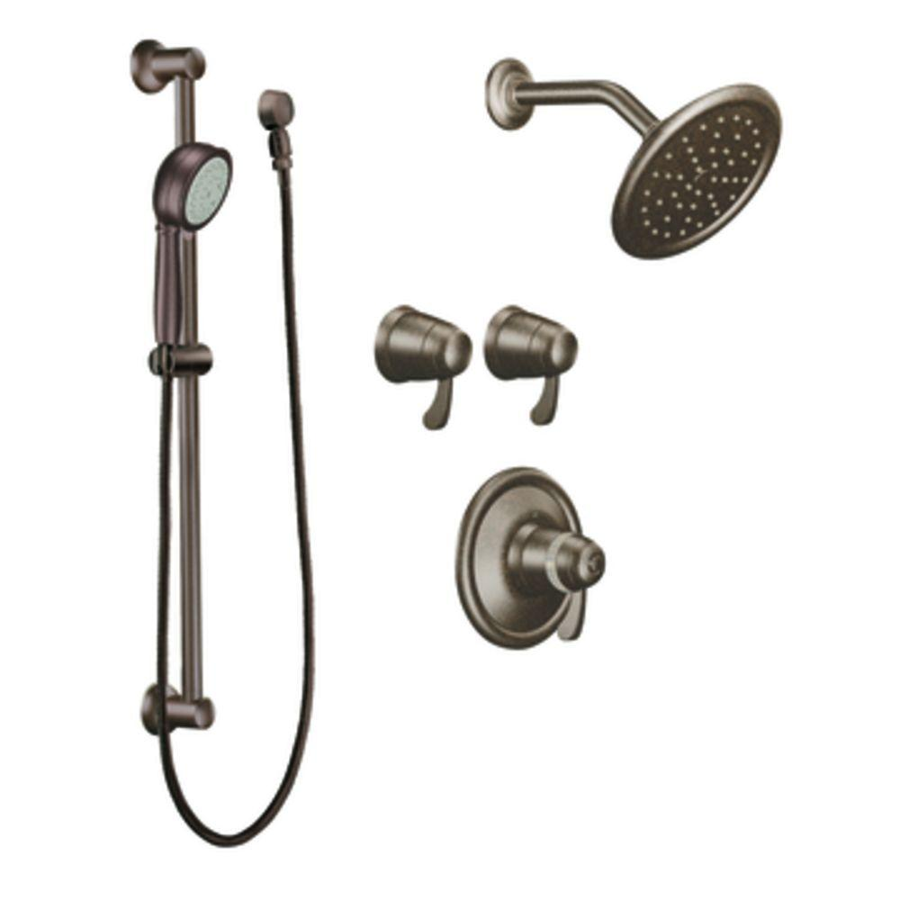 MOEN ExactTemp Vertical Spa Trim Kit in Oil Rubbed Bronze (Valve not included)-DISCONTINUED