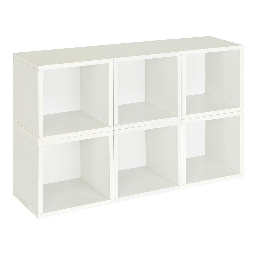 Barcelona 6 Cubes Stackable Modular Cubby Organizer, Tool-Free Assembly Storage