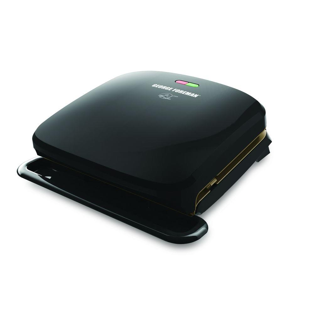 George foreman indoor grill grp3060b the home depot - George foreman replacement grill plates ...