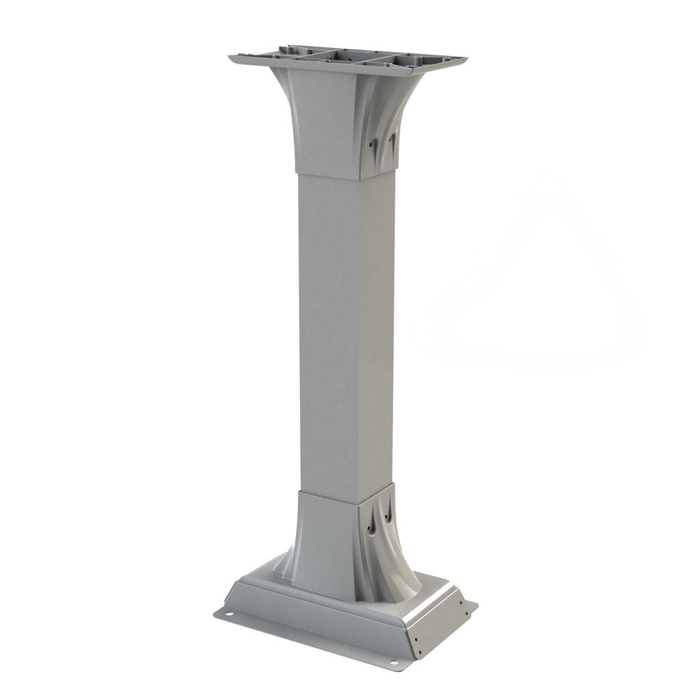 Callaway Adjustable Mailbox Post in White