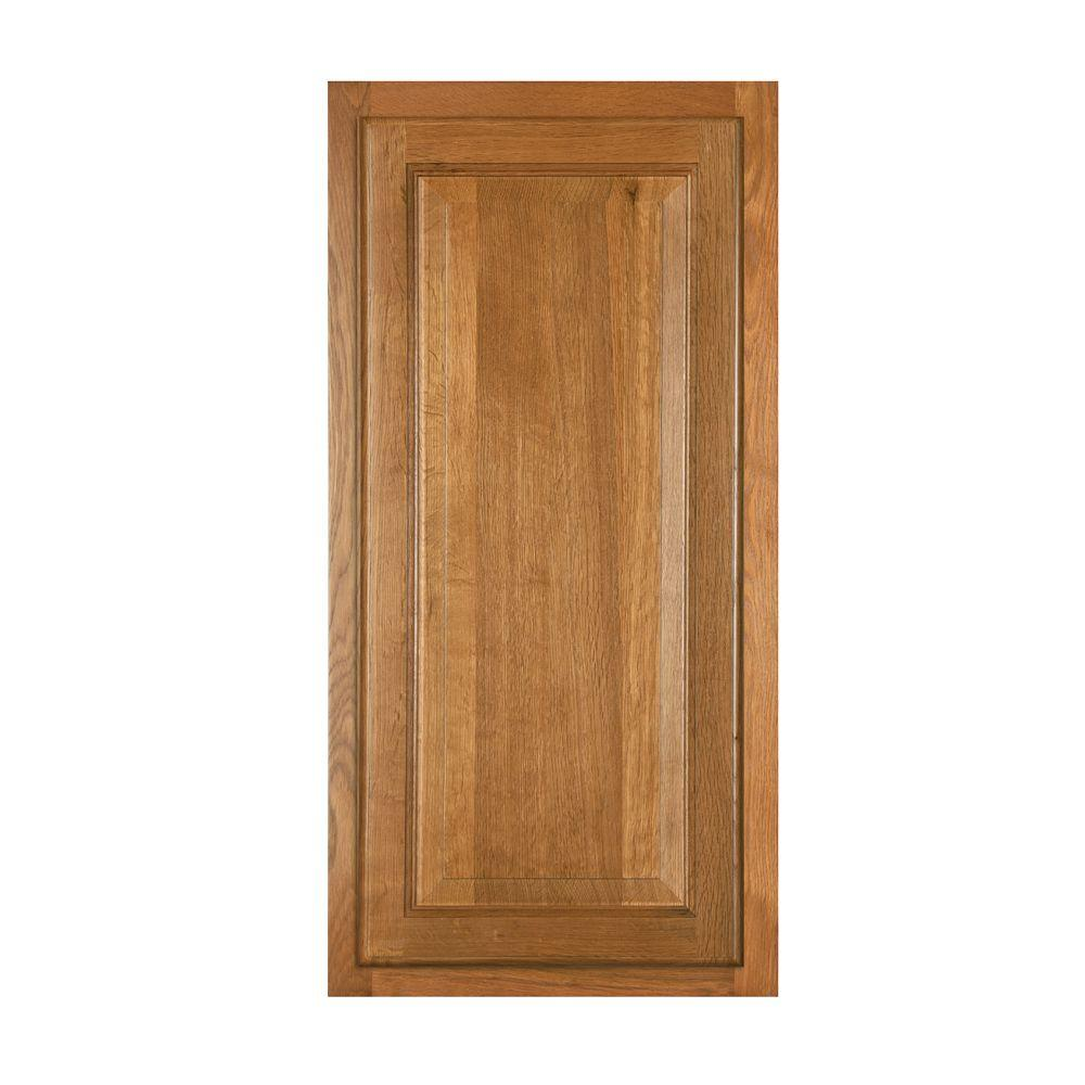 Home Decorators Collection 16x30x2.7 in. Angle Front Frame for 36x36 in. Diagonal Corner Sink in Weston Light Oak
