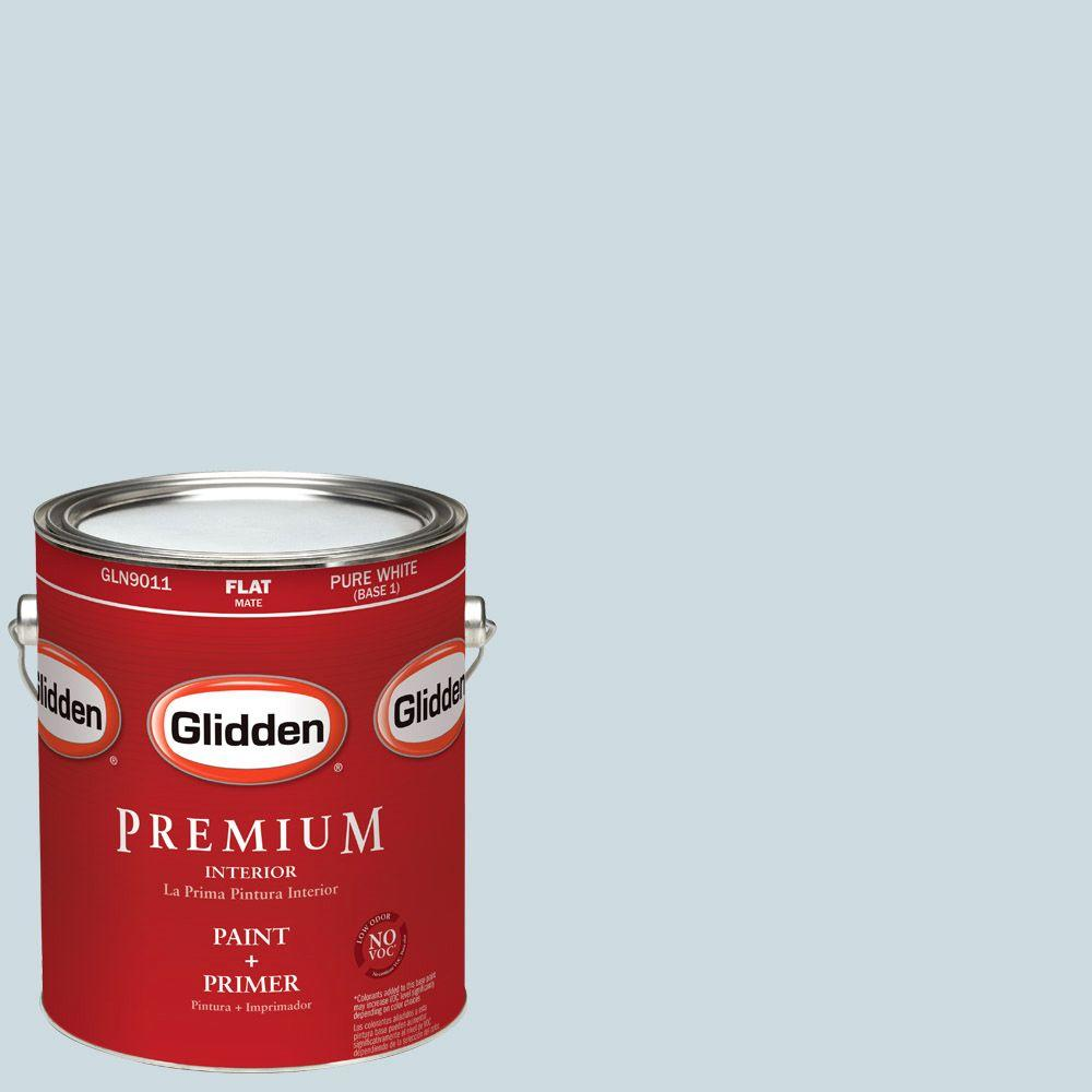 Glidden Premium 1-gal. #HDGCN31 Heavenly Blue Flat Latex Interior Paint with Primer