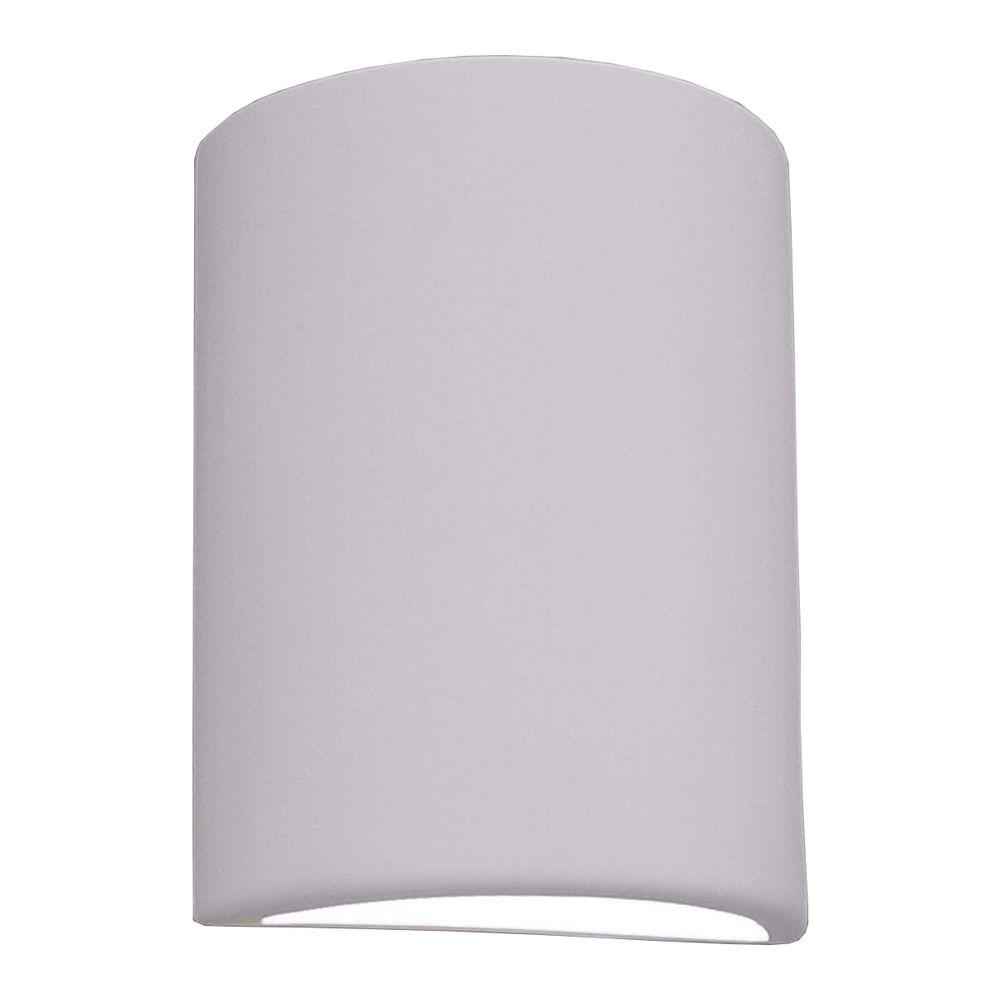 Franklin Bisque Grey Ceramic Outdoor Wall Sconce
