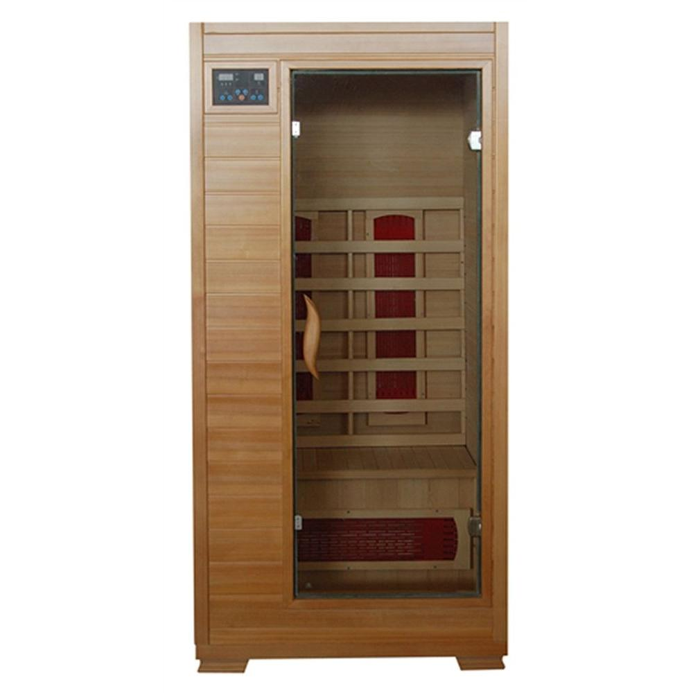 mountain ridge 1 person ceramic sauna esf101hce the home depot. Black Bedroom Furniture Sets. Home Design Ideas