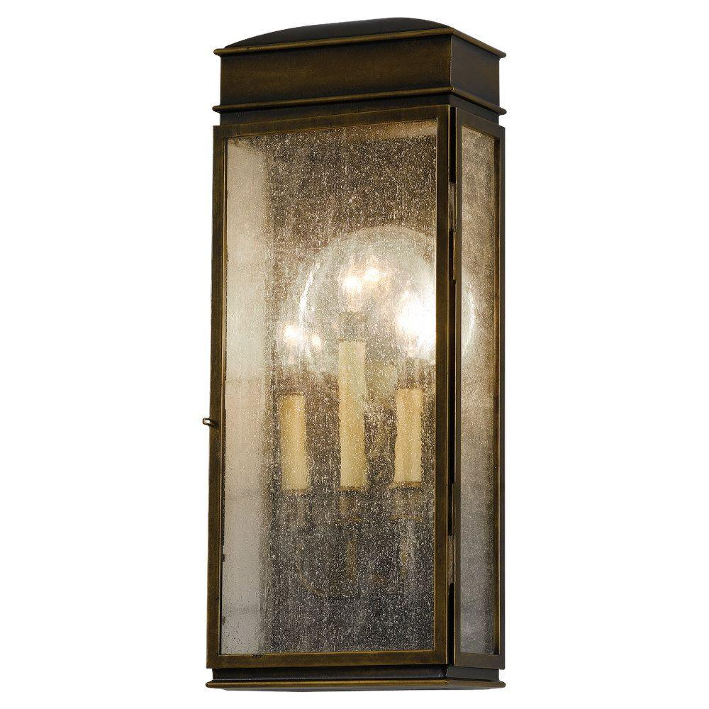 Whitaker 3-Light Astral Bronze Outdoor Wall Lantern