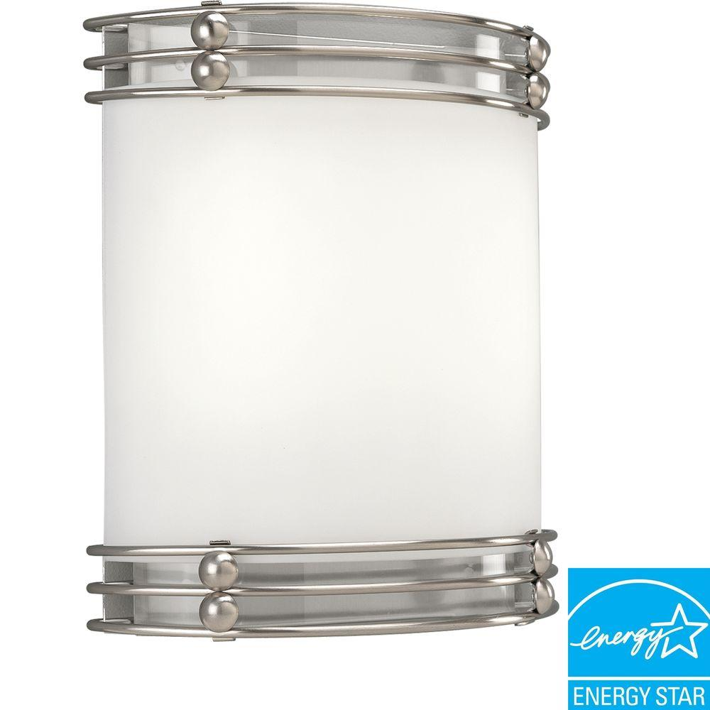 Progress Lighting Brushed Nickel 2-light Wall Sconce-DISCONTINUED