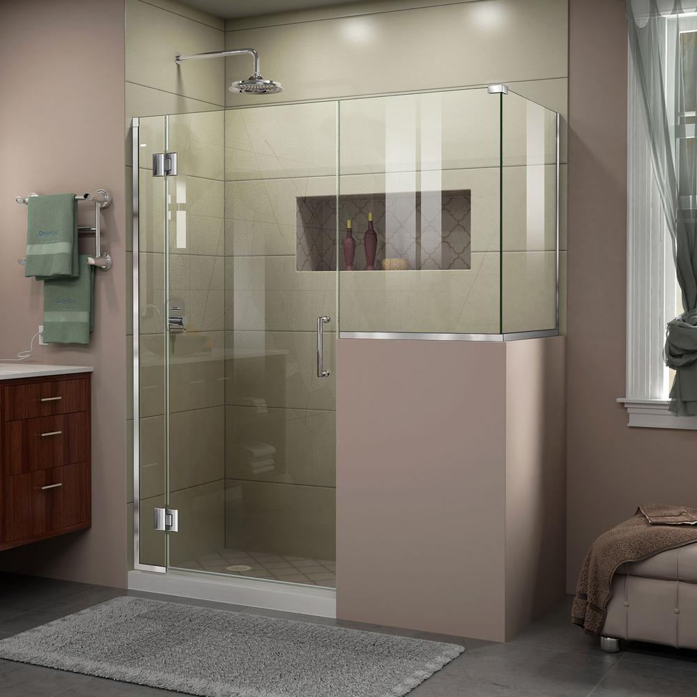 Unidoor-X 47 in. x 36-3/8 in. x 72 in. Frameless Hinged