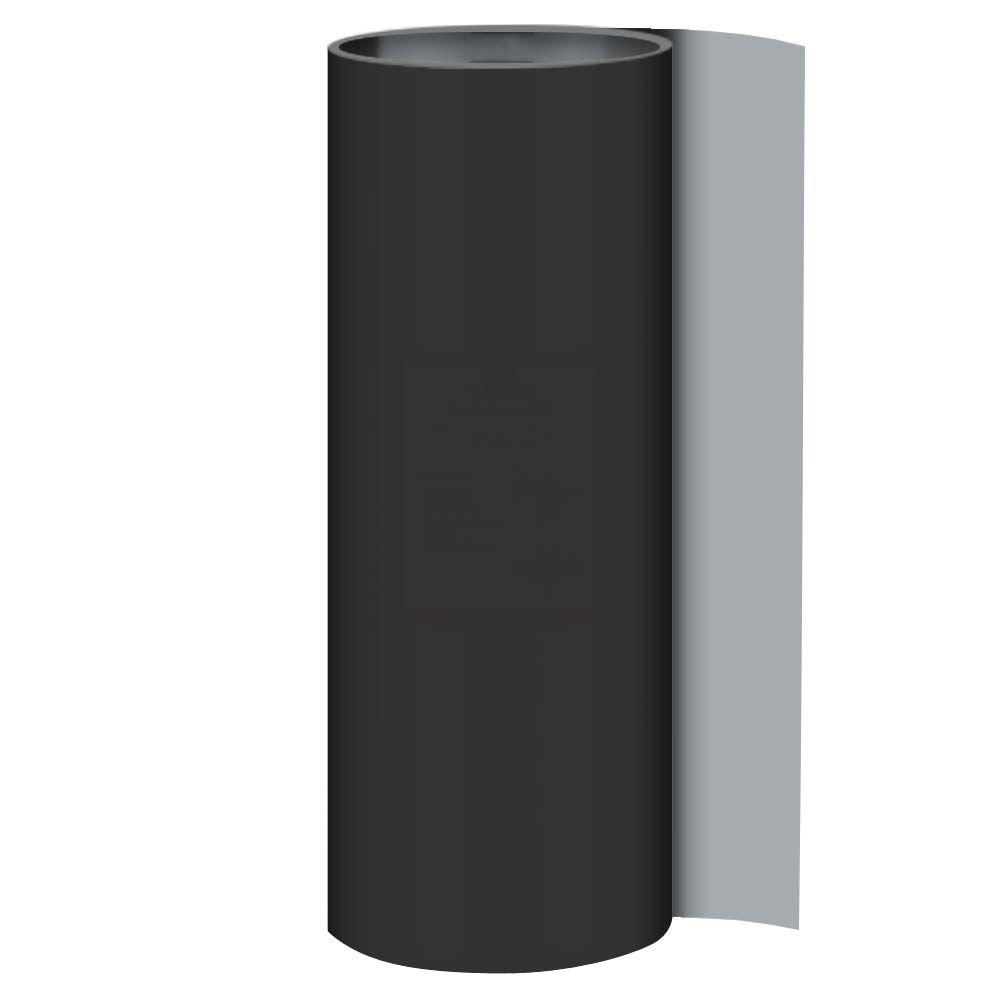 20 in. x 50 ft. Galvanized Steel Black/Gray Painted Roll Valley