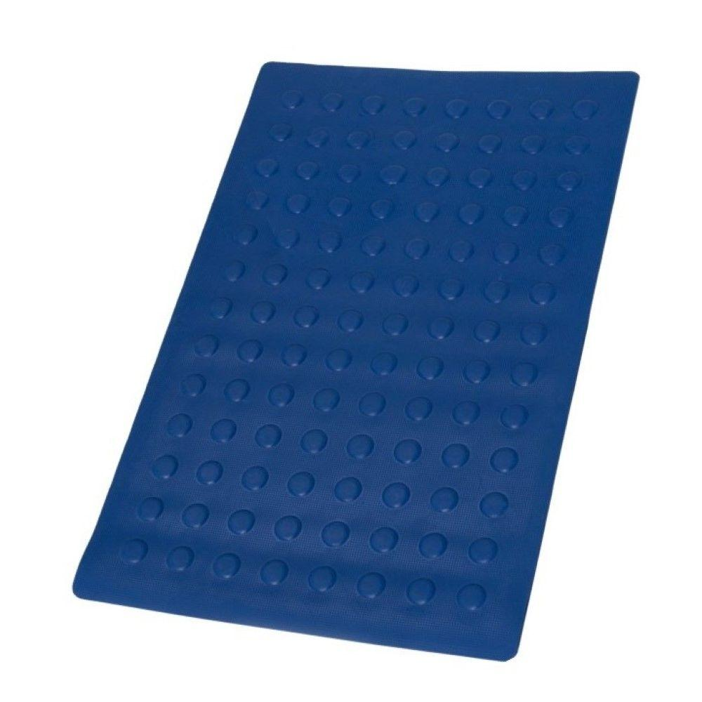 SlipX Solutions 14 in. x 22 in. Small Rubber Bath Mat in Blue