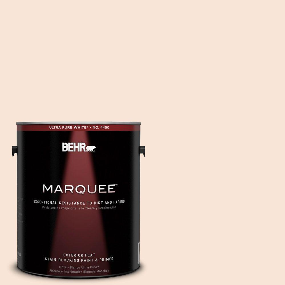 BEHR MARQUEE 1-gal. #230A-1 Shell Ginger Flat Exterior Paint