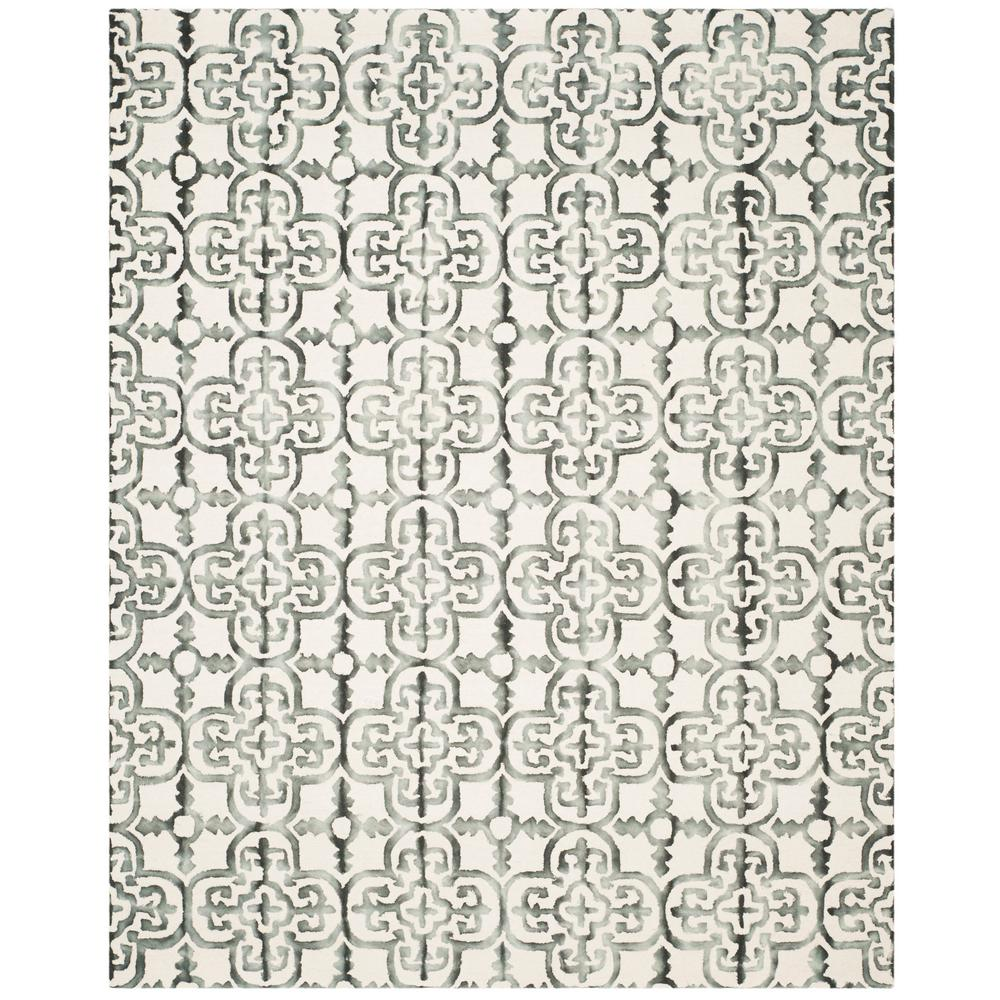 Dip Dye Ivory/Charcoal 8 ft. x 10 ft. Area Rug
