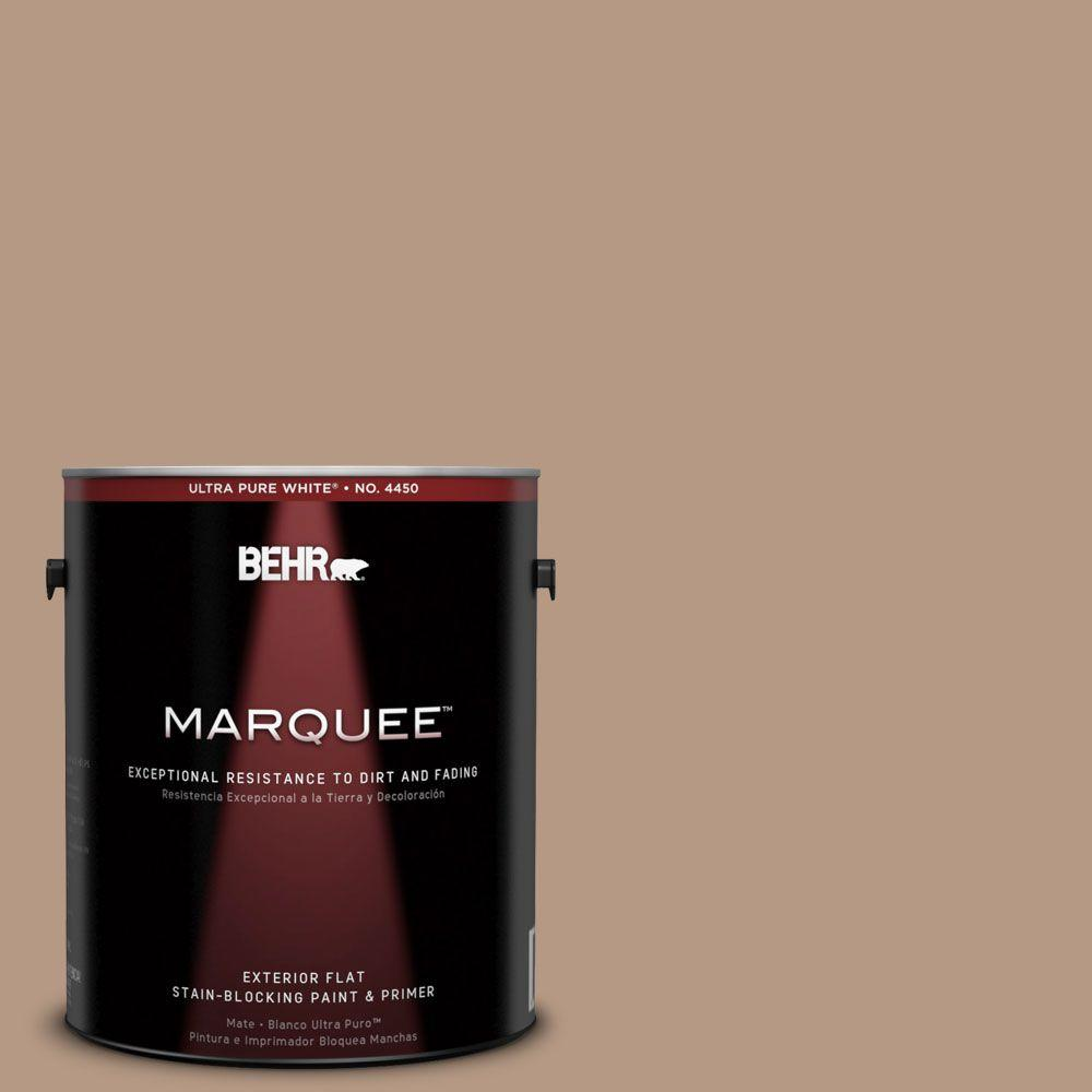 BEHR MARQUEE 1-gal. #250F-4 Stone Brown Flat Exterior Paint-445401 - The