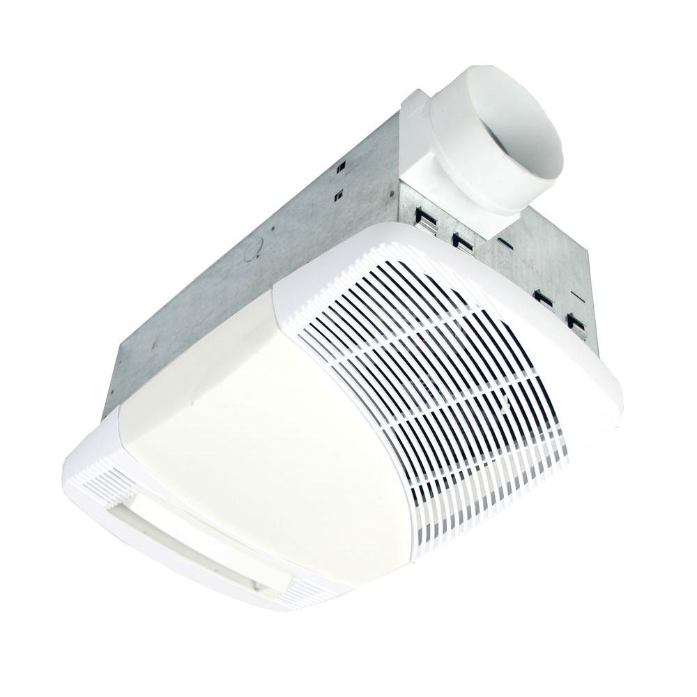 NuVent 70 CFM Ceiling Directional Heat Vent Exhaust Bath Fan with Light-DISCONTINUED