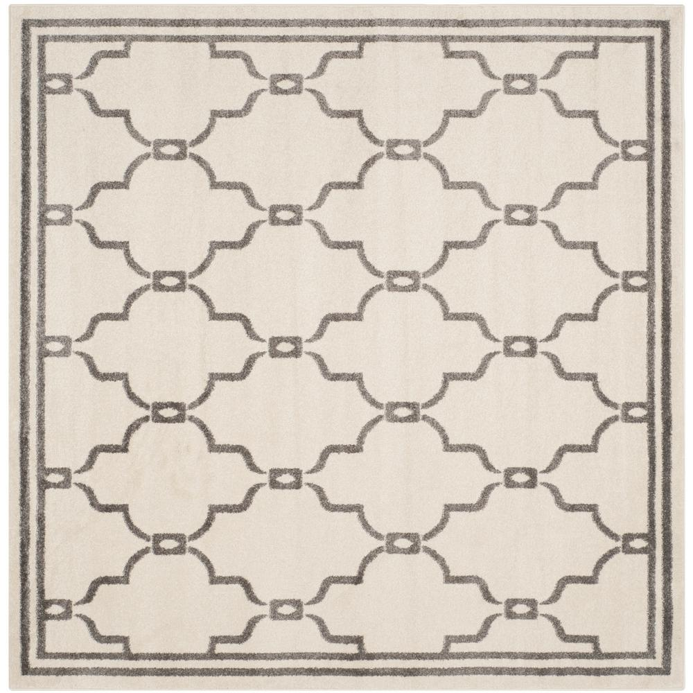 Amherst Ivory/Gray 5 ft. x 5 ft. Indoor/Outdoor Square Area Rug