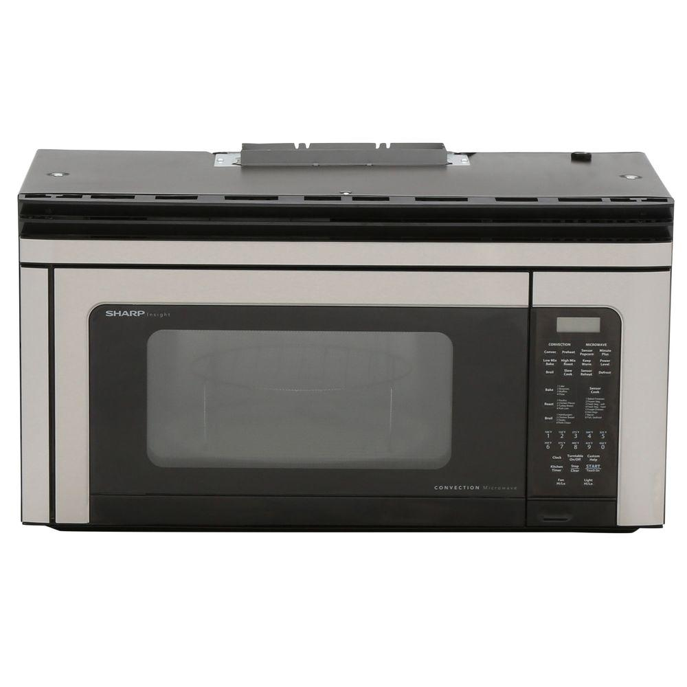 Sharp 1.1 cu. ft. 850-Watt Over the Range Convection Microwave Oven in Stainless