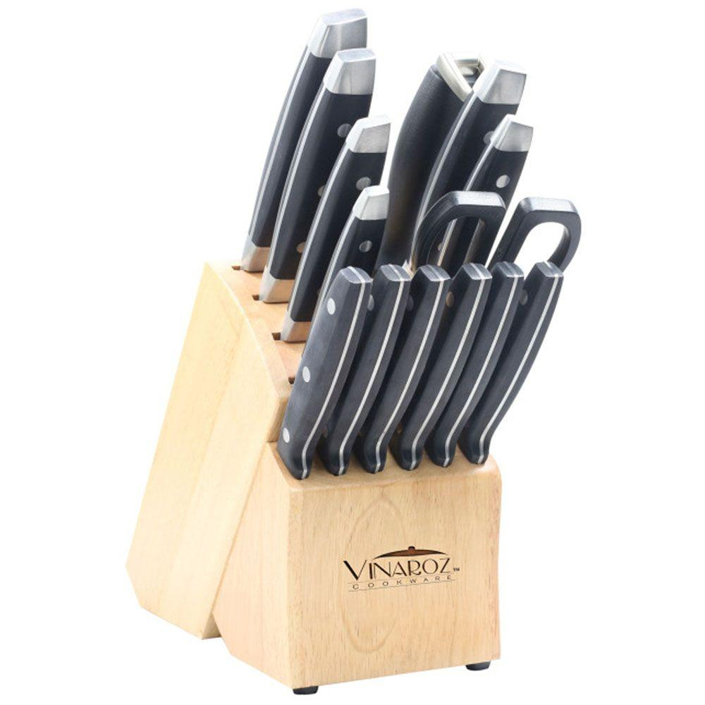 Vinaroz Stainless Steel Forged Cutlery Set (15-Piece)-DISCONTINUED
