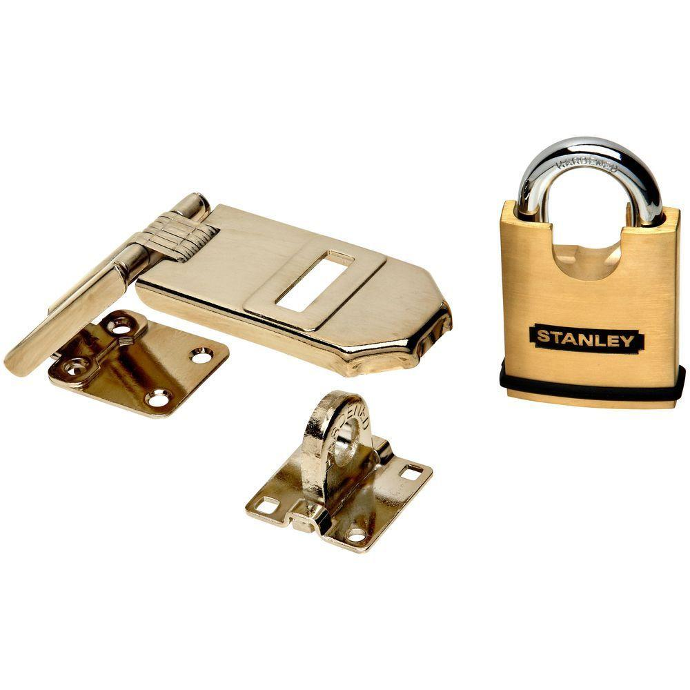 Stanley-National Hardware 1.969 in. Solid Brass Padlock with Hasp