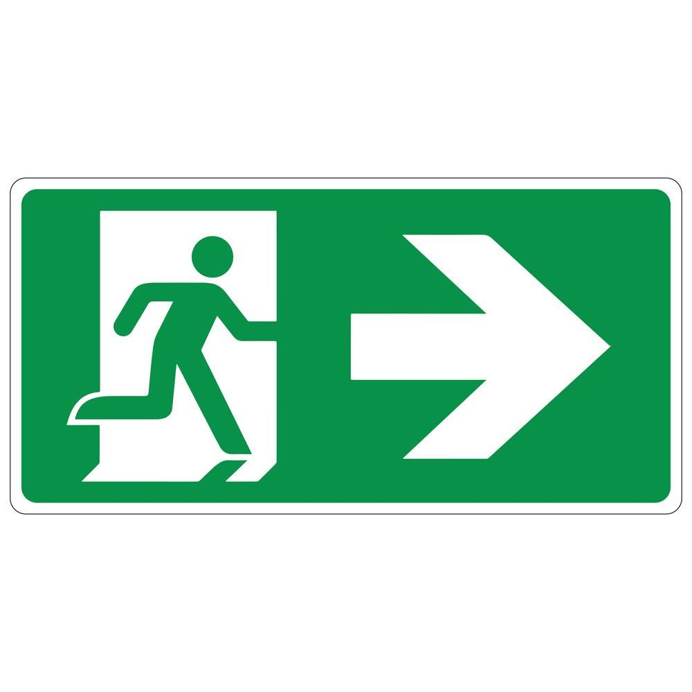 Rectangular Plastic Exit Right Running Man Sign-PSE-0094 - The Home Depot