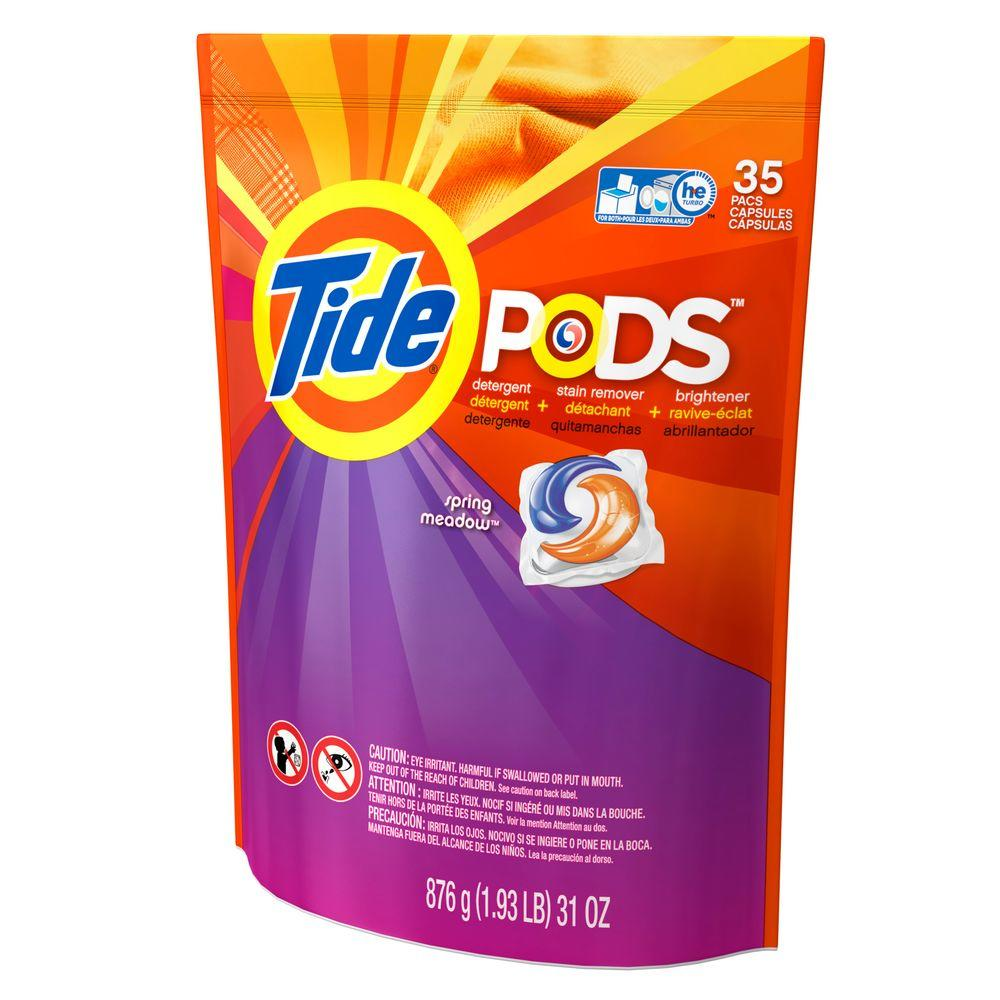 Tide Pods Spring Meadow Scent Laundry Detergent (35 Count)-003700093127 - The