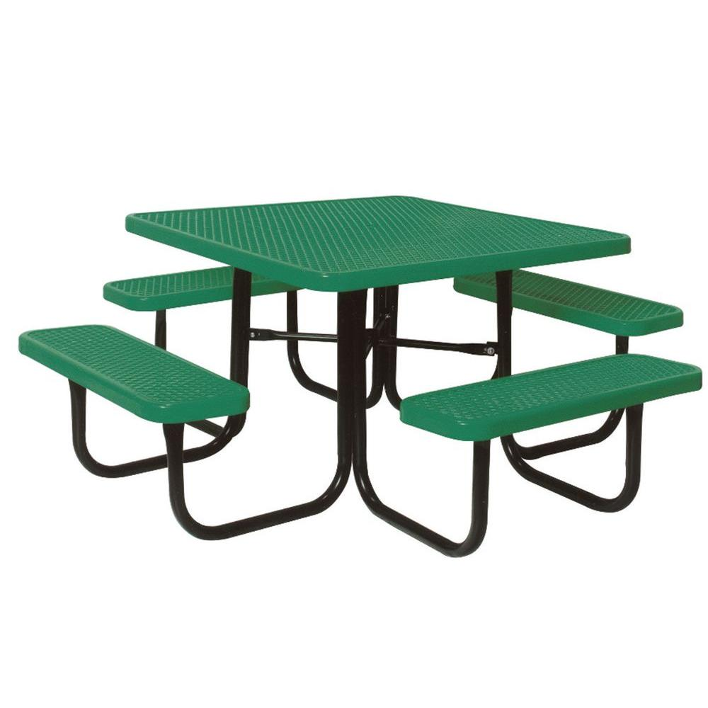 4 ft. Diamond Green Commercial Park Square Table