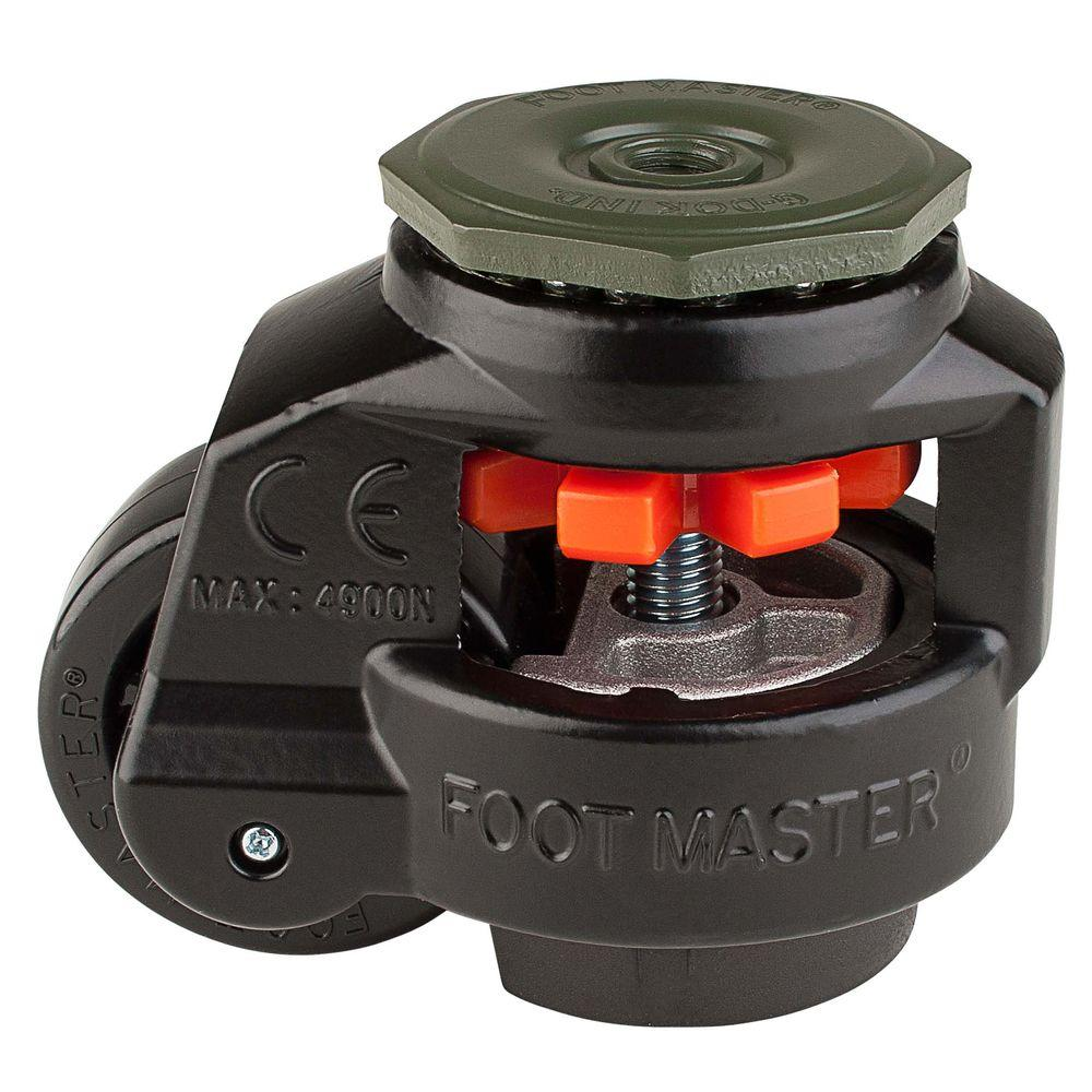 2-1/2 in. Nylon Wheel Metric Stem Leveling Caster with Load Rating
