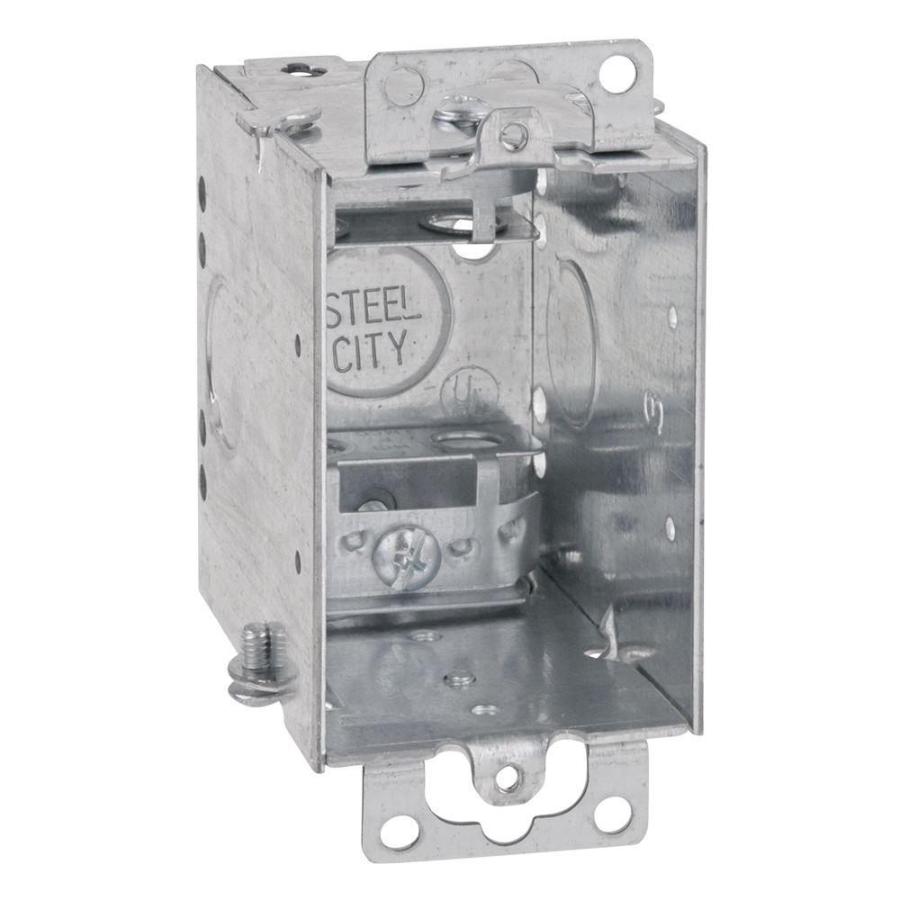 1 Gang 14 cu. in. Pre-Galvanized Steel Gangable Old Work Switch