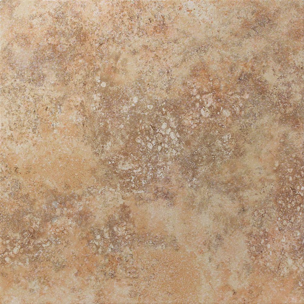 U.S. Ceramic Tile Tuscany Desert 13 in. x 13 in. Glazed Porcelain Floor & Wall Tile-DISCONTINUED
