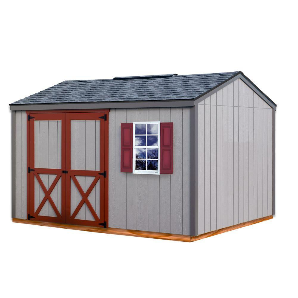 Cypress 12 ft. x 10 ft. Wood Storage Shed Kit with