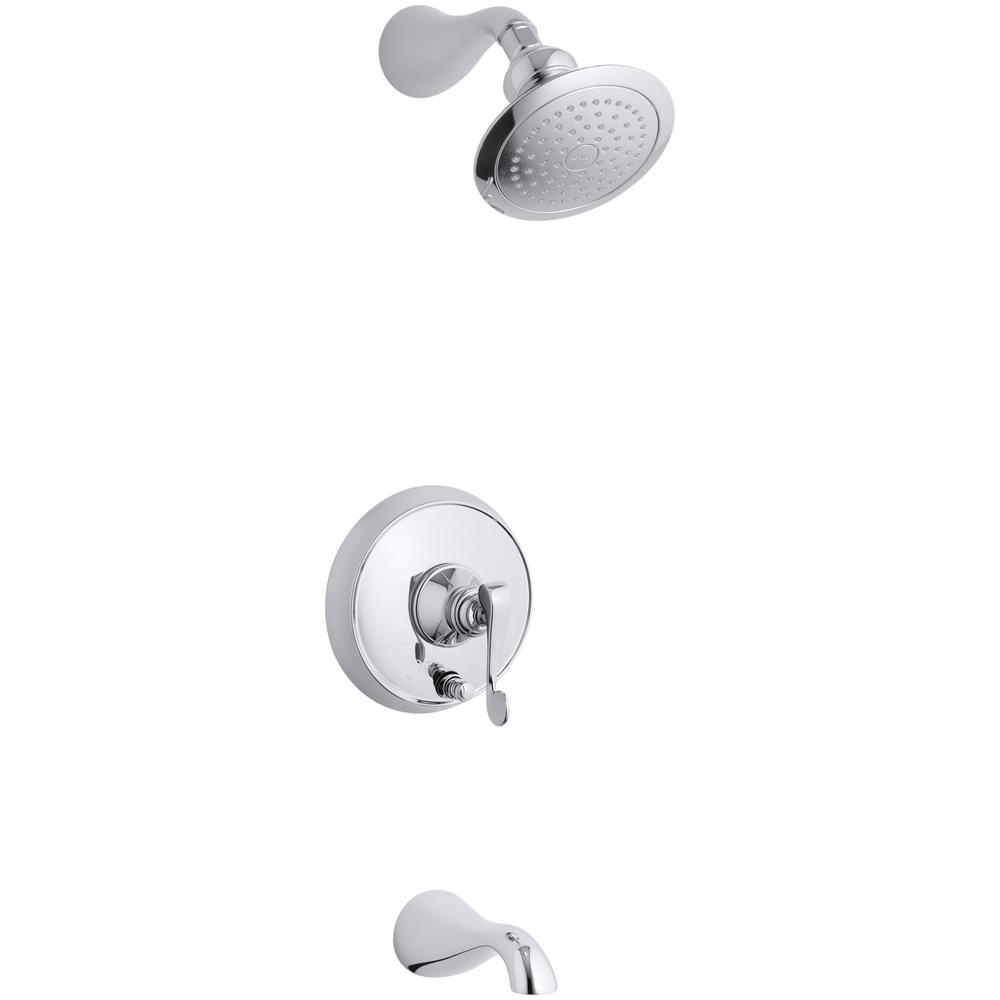 Revival 1-Handle Tub and Shower Faucet Trim in Polished Chrome