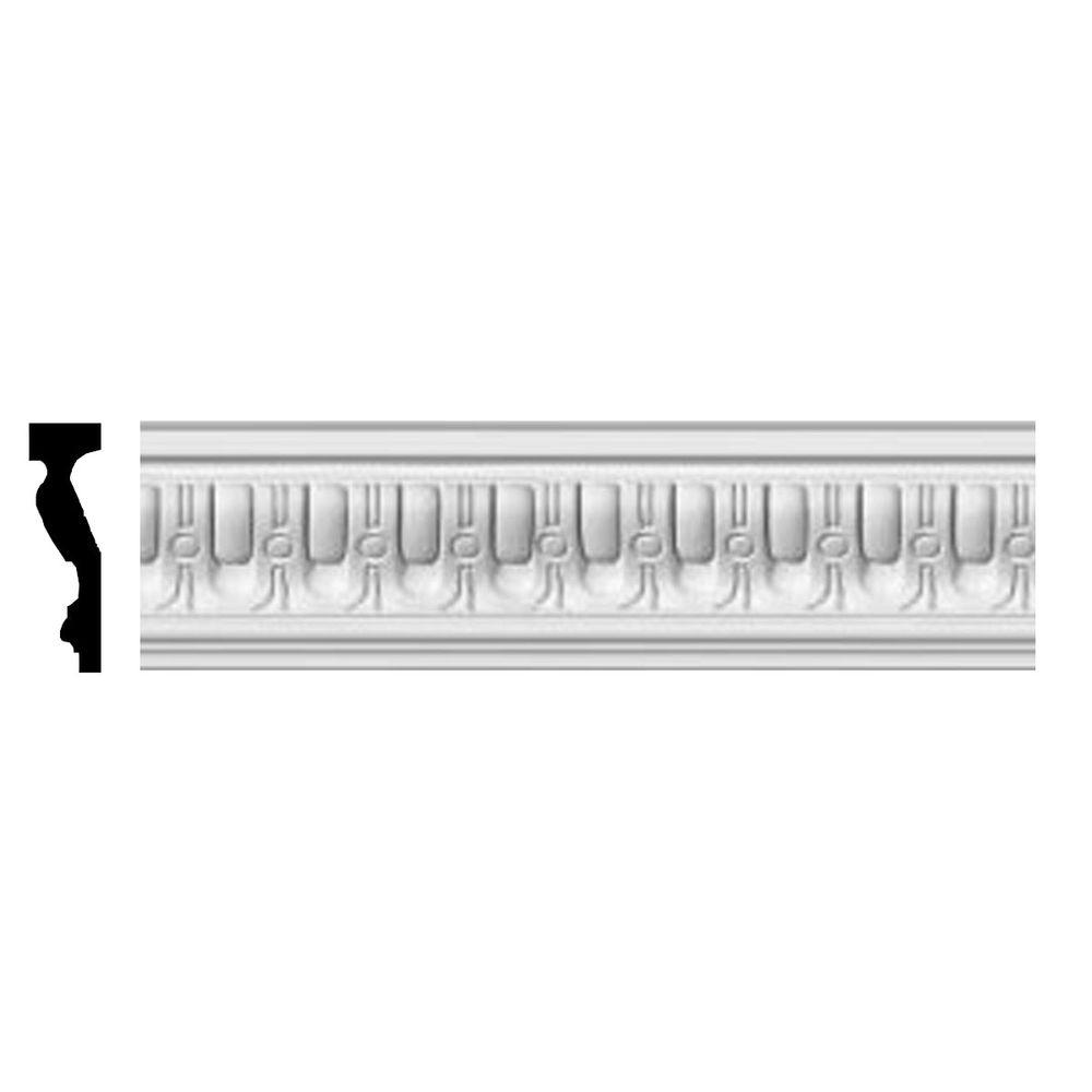 Ekena Millwork 1-1/8 in. x 4-1/8 in. x 96 in. Polyurethane Sequential Chair Rail Moulding