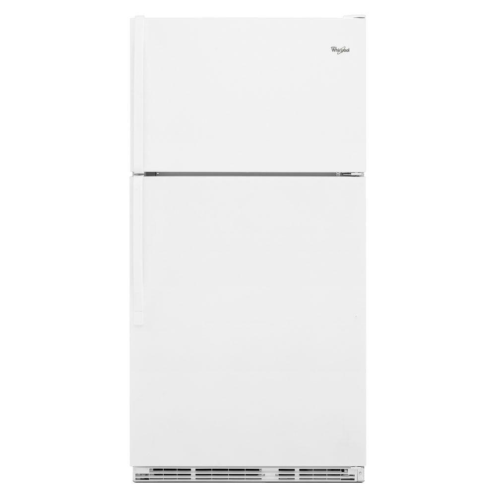 Whirlpool 18.5 cu. ft. Top Freezer Refrigerator in White
