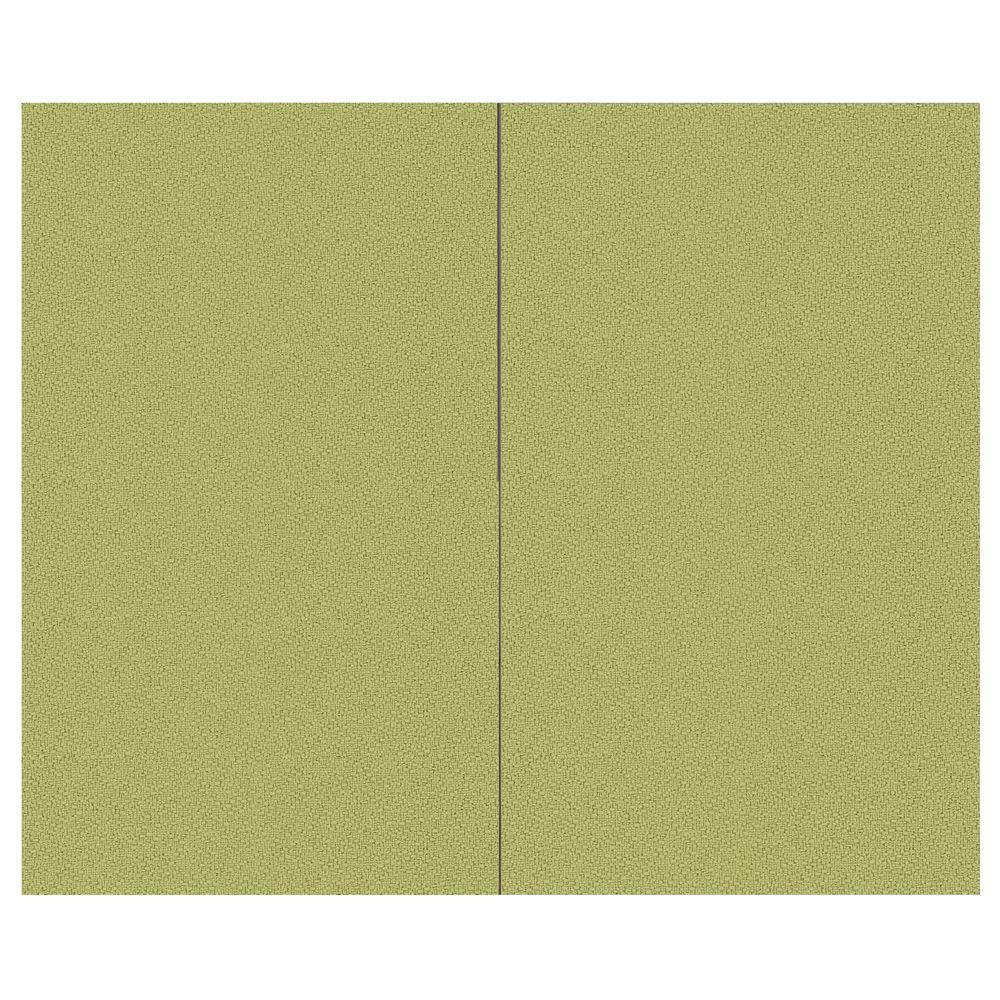 SoftWall Finishing Systems 44 sq. ft. Green Olive Fabric Covered Top Kit Wall Panel