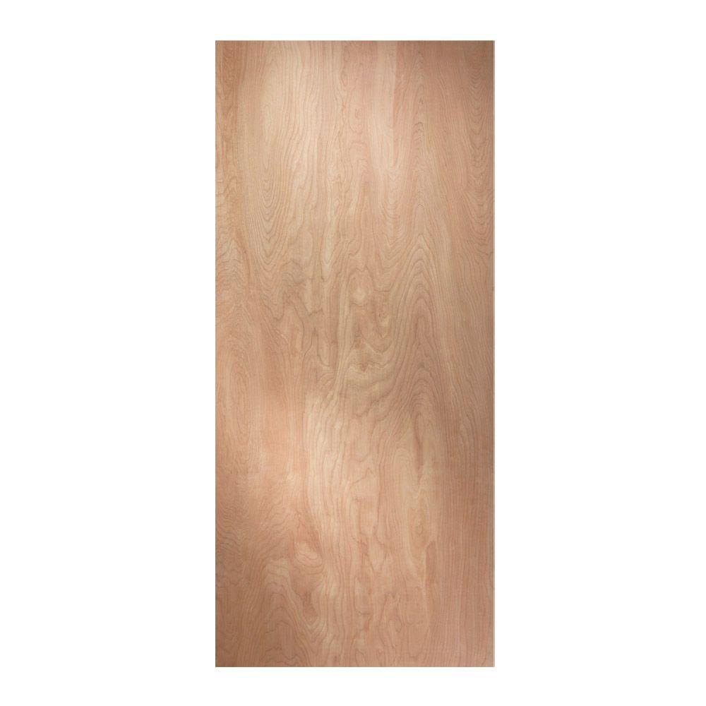 Jeld wen 32 in x 80 in woodgrain flush solid core unfinished hardwood front door slab 45605 for Solid wood interior doors home depot