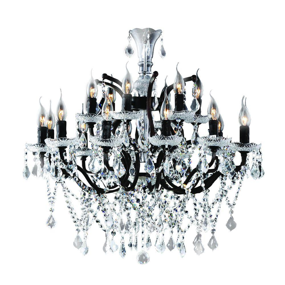 Yosemite home decor plaza collection 18 light antique for Chandelier mural antique