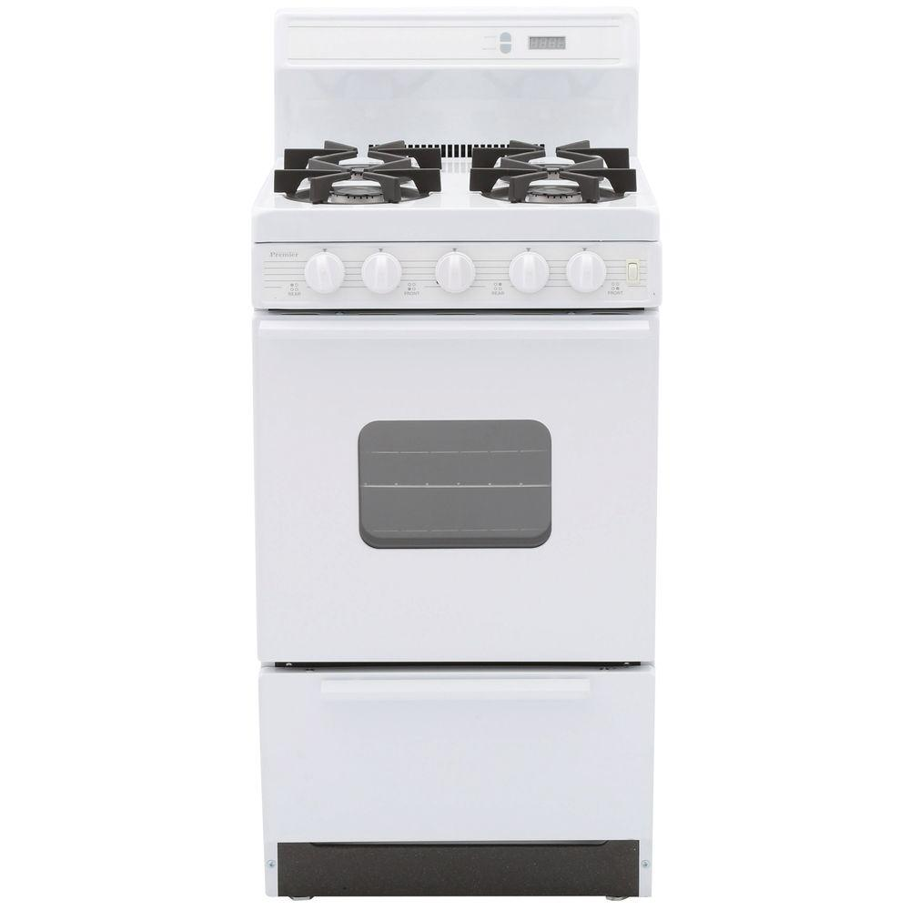 Premier 20 in. 2.42 cu. ft. Freestanding Gas Range with Sealed