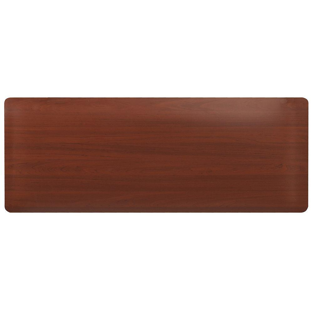 HomeTrax Designs Comfort Style Woodgrain Cherry 18 in. x 60 in.