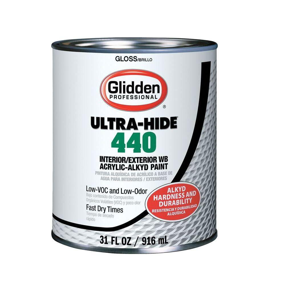 Glidden professional 1 qt ultra hide 440 wb acrylic alkyd for What are alkyd paints