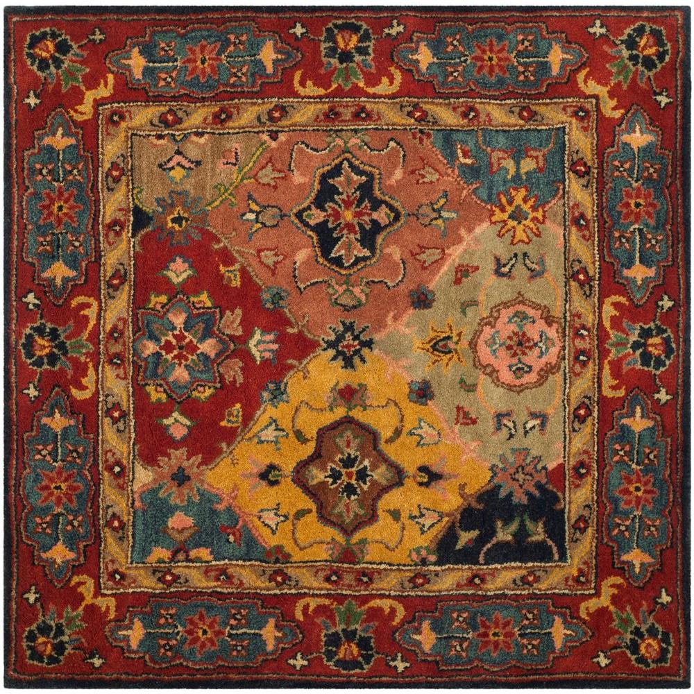 Heritage Red/Multi 4 ft. x 4 ft. Square Area Rug