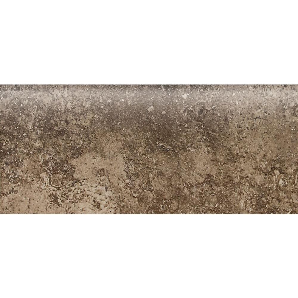 Daltile Santa Barbara Pacific Sand 2 in. x 6 in. Ceramic Bullnose Wall Tile