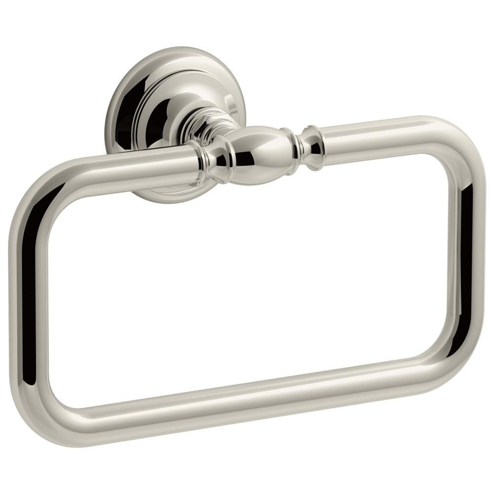 Artifacts Towel Ring in Vibrant Polished Nickel
