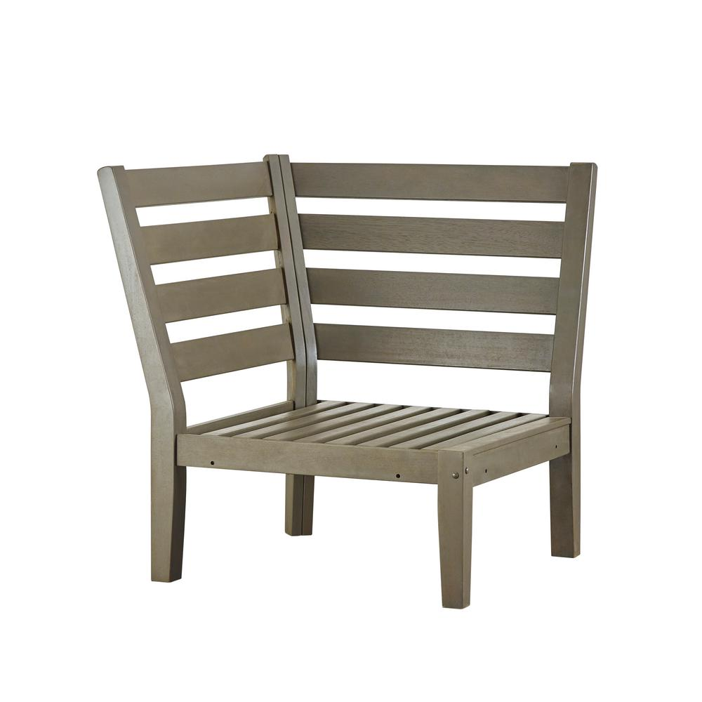 Verdon Gorge Gray Oiled Wood Outdoor Corner Lounge Chair Part 81