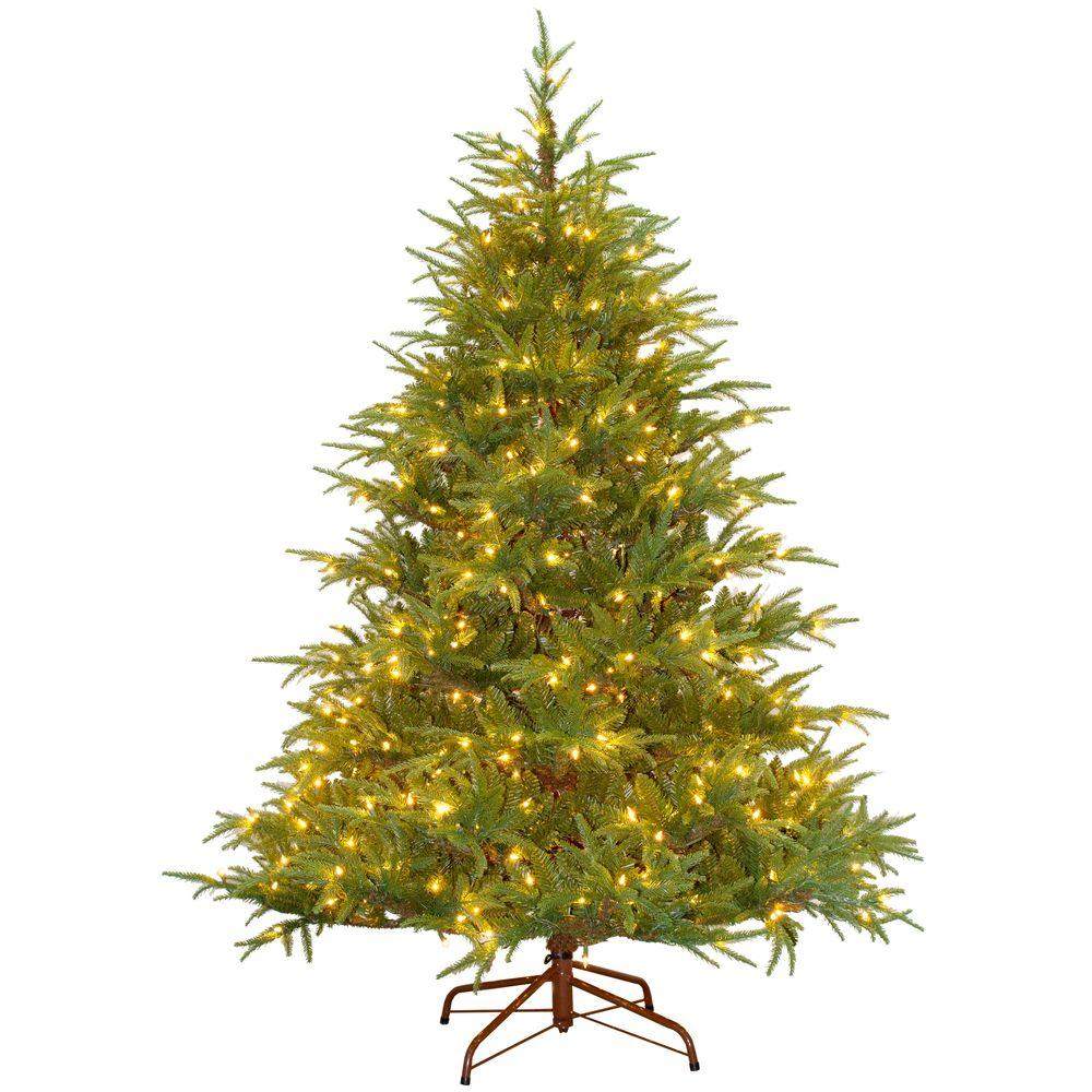 Real Or Fake Christmas Tree: 6.5 Ft. Feel-Real Fraser Grande Artificial Christmas Tree