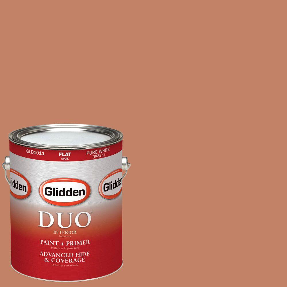 Glidden DUO 1-gal. #HDGO12U Dusty Terra Cotta Flat Latex Interior Paint with Primer