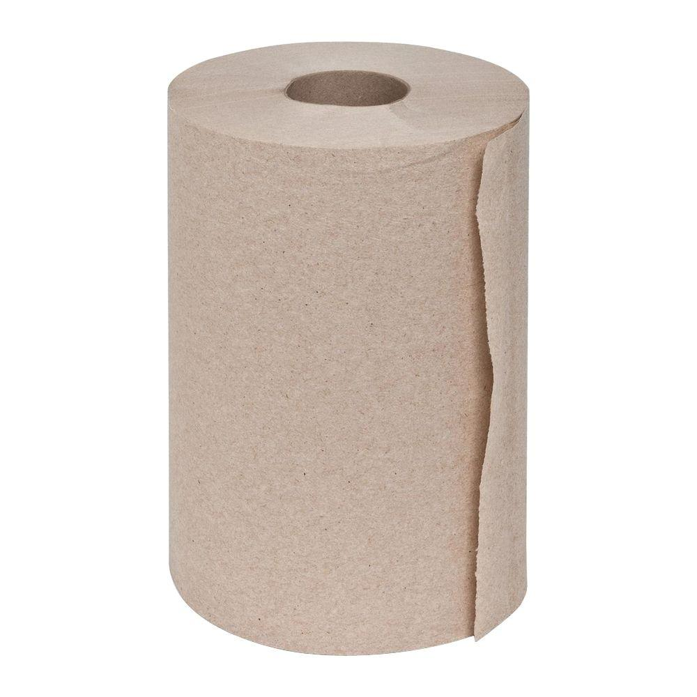 Genuine Joe Embossed Hard-Wound Roll Towels (12 Rolls)