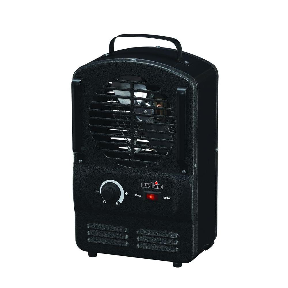 Duraflame 1500-Watt Electric Portable Compact Utility Heater - Black