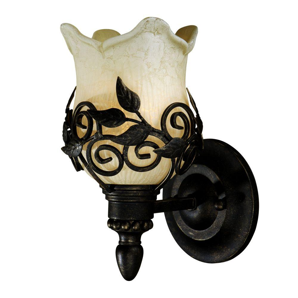 null Toulouse 1-Light Wrought Iron Wall Sconce-DISCONTINUED