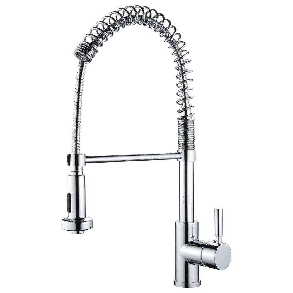 Yosemite Home Decor Single-Handle Pull-Out Sprayer Kitchen Faucet in Polished