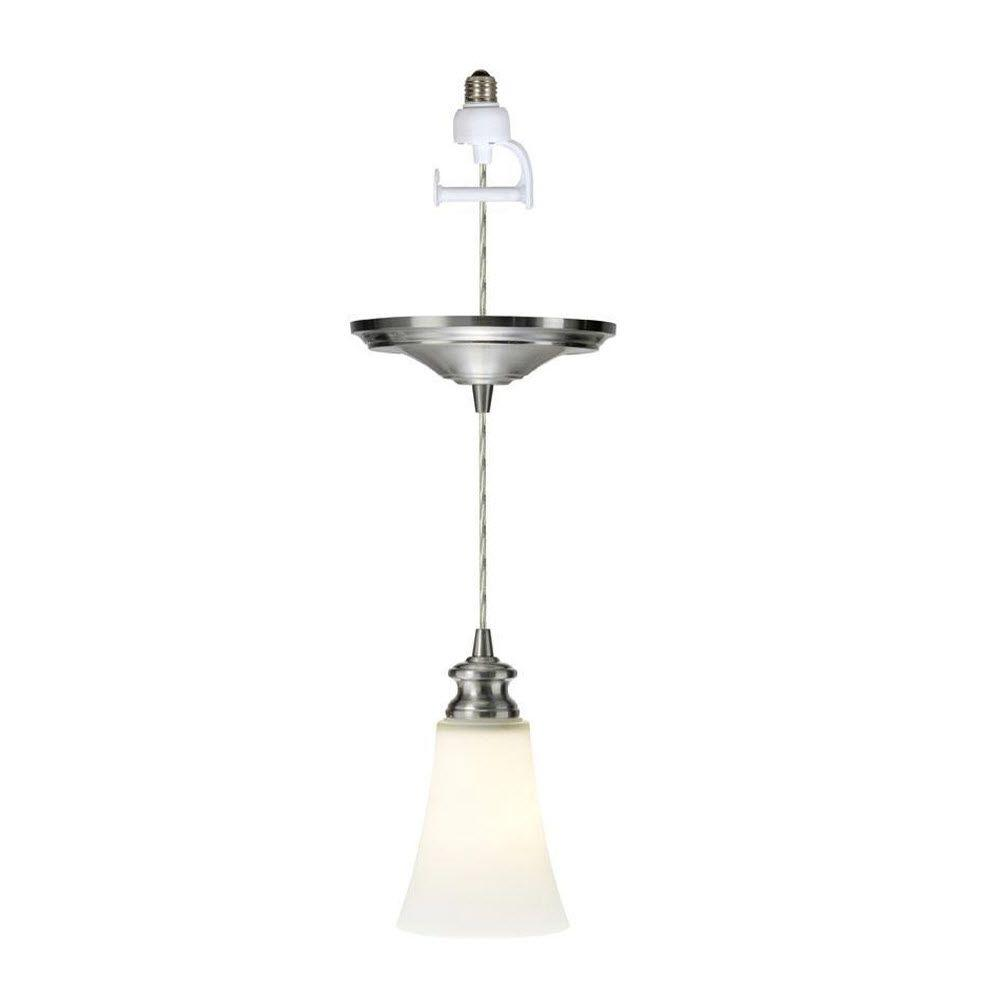 Home Decorators Collection Instant 2-Light Scavo and Brushed Bronze Pendant with Conversion Kit