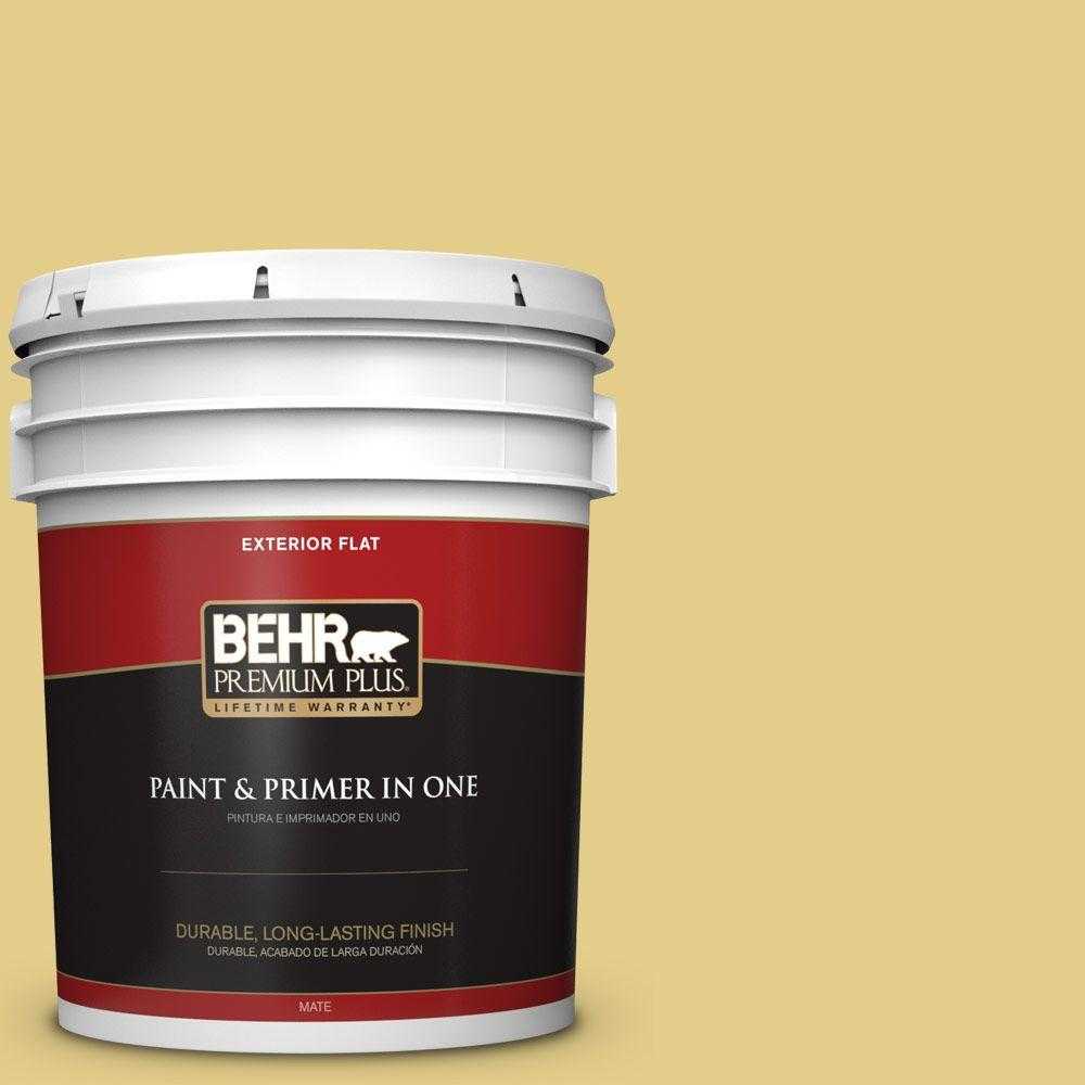 5-gal. #T12-6 Lol Yellow Flat Exterior Paint